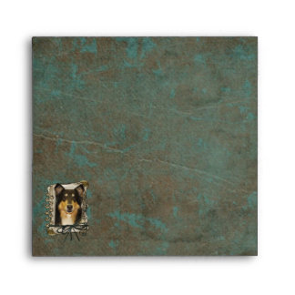 Fathers Day - Stone Paws - Collie - Caroline Envelope