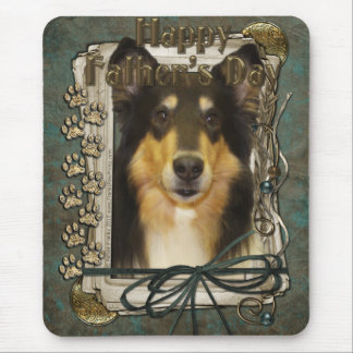 Fathers Day - Stone Paws - Collie - Caroline Mouse Pad
