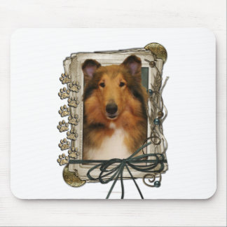 Fathers Day - Stone Paws - Collie - Natalie Mouse Pad