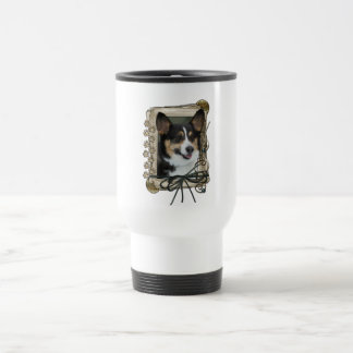 Fathers Day - Stone Paws - Corgi 15 Oz Stainless Steel Travel Mug