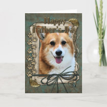 Fathers Day - Stone Paws - Corgi - Owen Card