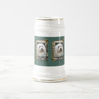 Fathers Day - Stone Paws - Coton de Tulear Beer Stein