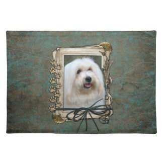 Fathers Day - Stone Paws - Coton de Tulear Cloth Placemat