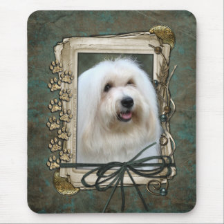 Fathers Day - Stone Paws - Coton de Tulear Mouse Pad
