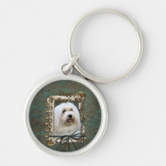 Fathers Day - Stone Paws - Coton de Tulear Silver-Colored Round Keychain