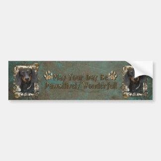 Fathers Day - Stone Paws - Dachshund - Winston Car Bumper Sticker