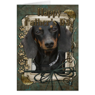 Fathers Day - Stone Paws - Dachshund - Winston Card