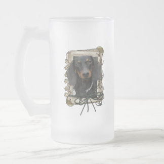 Fathers Day - Stone Paws - Dachshund - Winston Frosted Glass Beer Mug