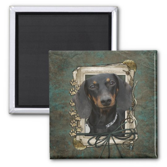 Fathers Day - Stone Paws - Dachshund - Winston Magnet