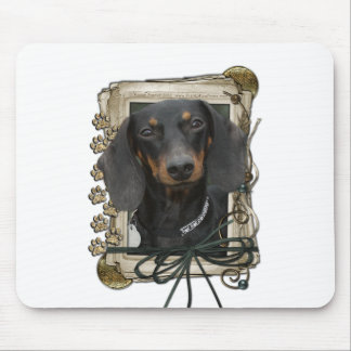 Fathers Day - Stone Paws - Dachshund - Winston Mouse Pad