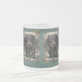 Fathers Day - Stone Paws - Dachshund - Winston 10 Oz Frosted Glass Coffee Mug
