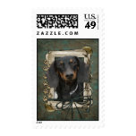 Fathers Day - Stone Paws - Dachshund - Winston Stamp