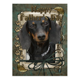Fathers Day - Stone Paws - Dachshund - Winston Postcard
