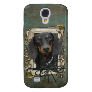 Fathers Day - Stone Paws - Dachshund - Winston Samsung Galaxy S4 Cover