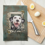 Fathers Day - Stone Paws - Dalmatian Hand Towel