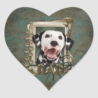 Fathers Day - Stone Paws - Dalmatian Heart Sticker