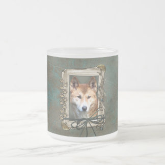 Fathers Day - Stone Paws - Dingo Frosted Glass Coffee Mug