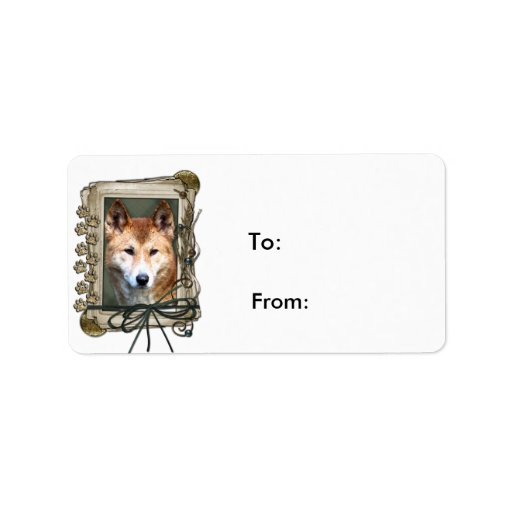 Fathers Day - Stone Paws - Dingo Personalized Address Labels