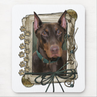 Fathers Day - Stone Paws - Doberman Mouse Pad