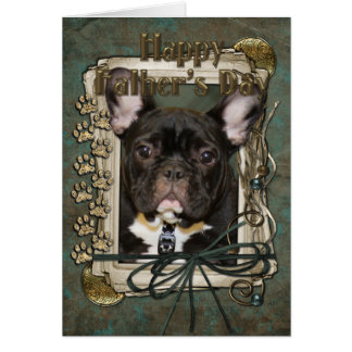 Fathers Day - Stone Paws - French Bulldog - Teal Card