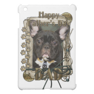 Fathers Day - Stone Paws - French Bulldog Teal Dad iPad Mini Cases