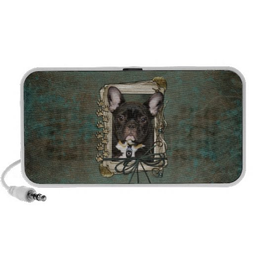 Fathers Day - Stone Paws - French Bulldog - Teal Travel Speakers