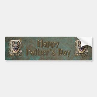 Fathers Day - Stone Paws - German Shepherd Car Bumper Sticker