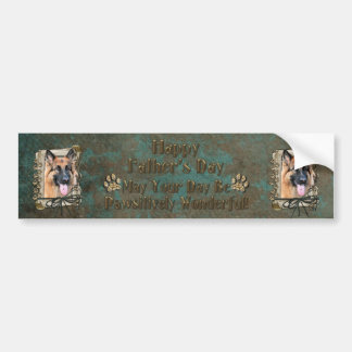 Fathers Day - Stone Paws - German Shepherd Bumper Sticker