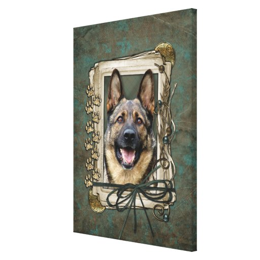 Fathers Day - Stone Paws - German Shepherd Canvas Prints