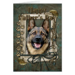 Fathers Day - Stone Paws - German Shepherd Card