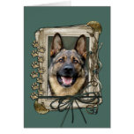 Fathers Day - Stone Paws - German Shepherd Greeting Card