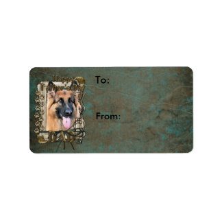Fathers Day -Stone Paws German Shepherd Chance_Dad Label
