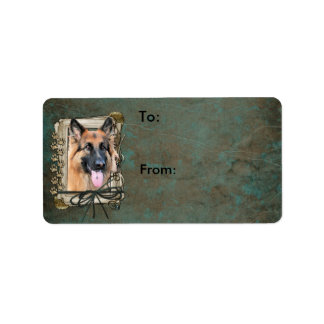 Fathers Day - Stone Paws - German Shepherd -Chance Label