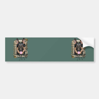 Fathers Day - Stone Paws - German Shepherd - Kuno Bumper Sticker