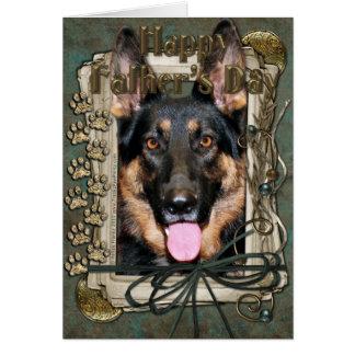Fathers Day - Stone Paws - German Shepherd - Kuno Card
