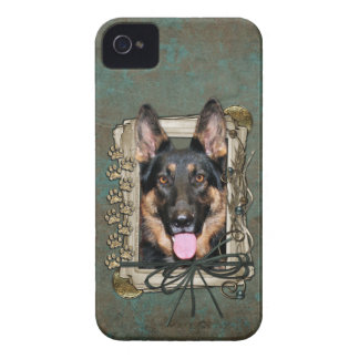 Fathers Day - Stone Paws - German Shepherd - Kuno iPhone 4 Cover