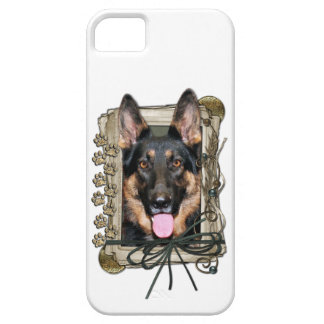 Fathers Day - Stone Paws - German Shepherd - Kuno iPhone SE/5/5s Case