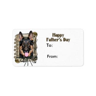Fathers Day - Stone Paws - German Shepherd - Kuno Label