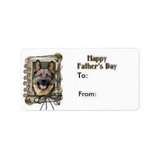 Fathers Day - Stone Paws - German Shepherd Label