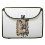Fathers Day - Stone Paws - German Shepherd Sleeves For MacBook Pro