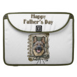 Fathers Day - Stone Paws - German Shepherd Sleeve For MacBook Pro