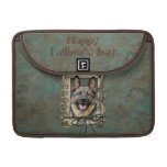 Fathers Day - Stone Paws - German Shepherd Sleeve For MacBooks