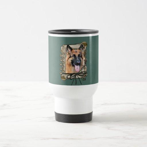 Fathers Day - Stone Paws - German Shepherd Coffee Mugs
