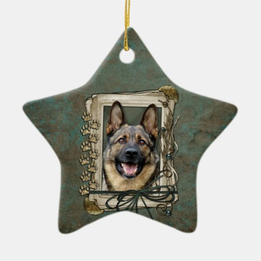 Fathers Day - Stone Paws - German Shepherd Christmas Ornaments