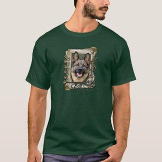 Fathers Day - Stone Paws - German Shepherd T-Shirt