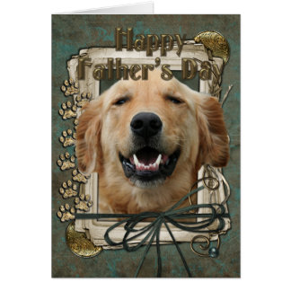 Fathers Day - Stone Paws - Golden Retriever Card