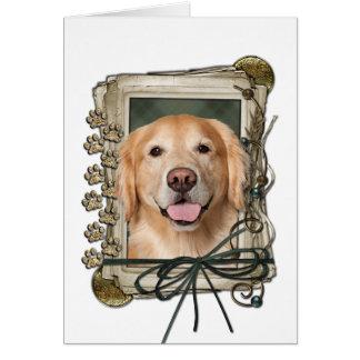 Fathers Day - Stone Paws Golden Retriever - Corona Card