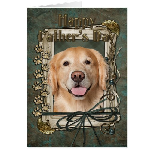 Fathers Day - Stone Paws Golden Retriever - Corona Card