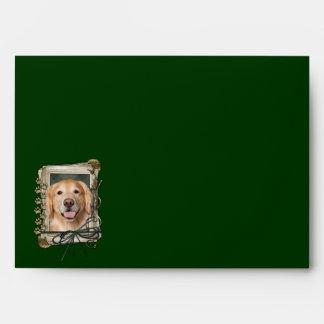 Fathers Day - Stone Paws Golden Retriever - Corona Envelope
