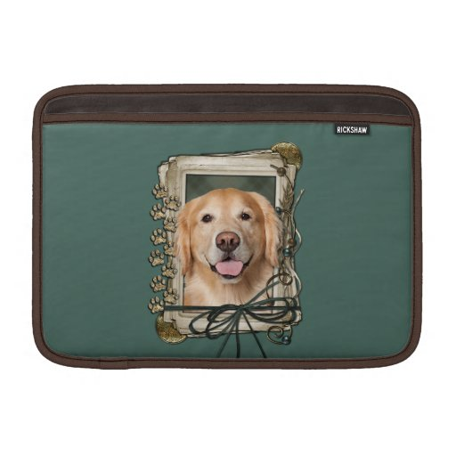 Fathers Day - Stone Paws Golden Retriever - Corona MacBook Sleeve